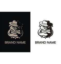 Bulldog head mascot logo vector