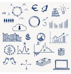 Business finance management infographics social vector image