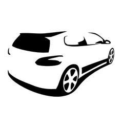 Car modern silhouette vector image