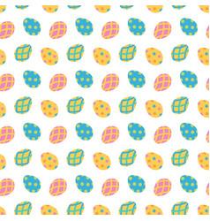 Cartoon style easter egg pattern vector