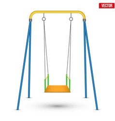 Children swing front view vector