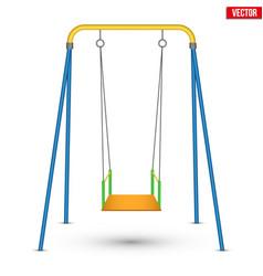 Children swing front view vector