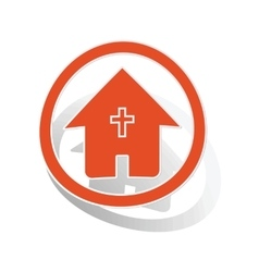 Christian house sign sticker orange vector image