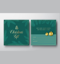 christmas abstract greeting gift card vector image