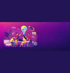 Collaboration concept banner header vector