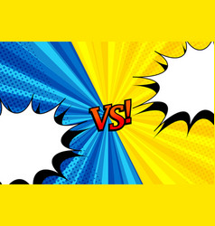 Comic versus horizontal background vector