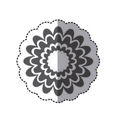 Contour flower with abstract petals icon vector