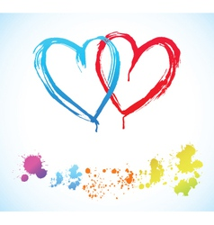 creative hearts vector image