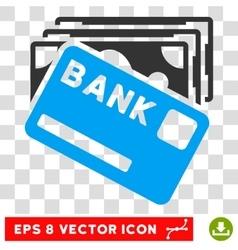 Credit money icon vector