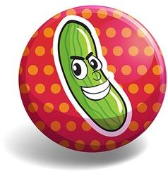 Cucumber badge vector image