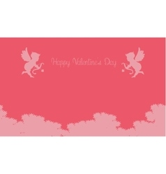 Cupid on sky valentine backgrounds vector