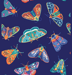 cute butterflies seamless pattern creative modern vector image