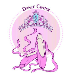 dance line color ballet accessories vector image