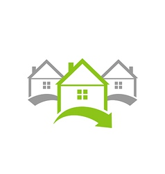 Ecological concept icon renewable green houses vector image