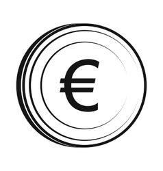 Euro icon simple style vector