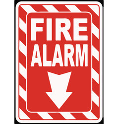 fire alarm sign eps 10 vector image