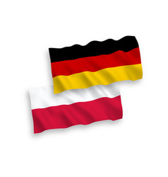 Flags of poland and germany on a white background vector