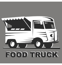 Food truck for emblems vector image