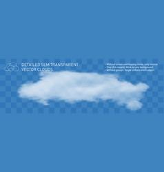Fountain cloud realistic steam transparent vector
