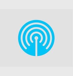 free wi fi icon connection zone wifi symbol radio vector image