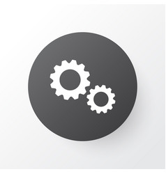 gear icon symbol premium quality isolated vector image