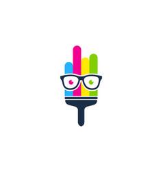 Geek paint logo icon design vector