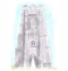 Glastonbury tor vector