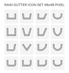 gutter shape icon vector image