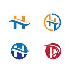 H letter logo template vector