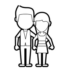 Happy couple relationship vector