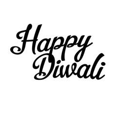 happy diwali inscription back vector image