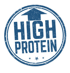 High protein sign or stamp vector