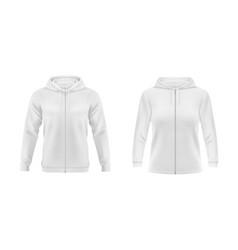 hoodie white sweatshirt mockup fashion vector image
