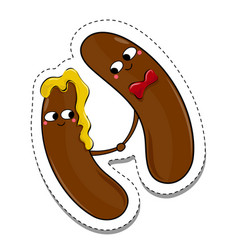 love is in love food sticker vector image