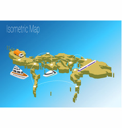 map philippines isometric concept vector image
