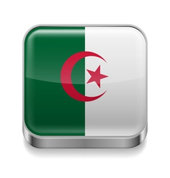 Metal icon of Algeria vector