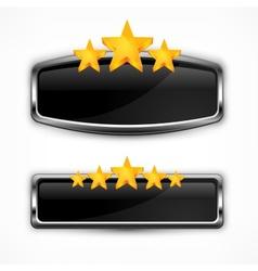 Metallic icon with stars vector image