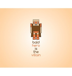 Mini cartoon icon vector