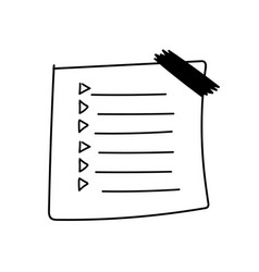 outline check to do list bullet vector image