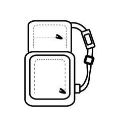 outline packback travel bag tourist with straps vector image