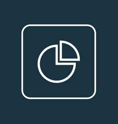 Pie bar outline symbol premium quality isolated vector