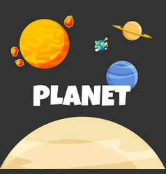 planet in space design black background ima vector image