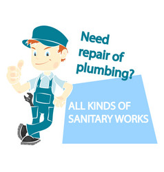 plumber for repair vector image