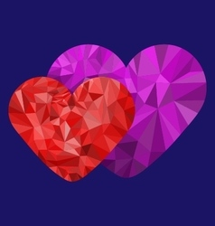 Polygon loving heart vector