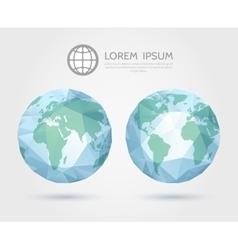 Polygonal globe 3d triangular world map vector