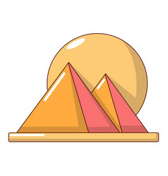 pyramid egypt icon cartoon style vector image