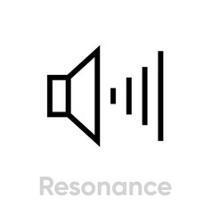 resonance icon editable stroke vector image