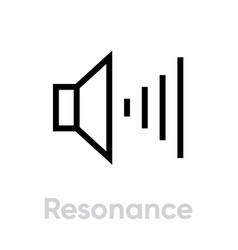 resonance icon editable stroke vector image
