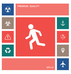 running man run icon elements for your design vector image