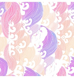 Seamless abstract pattern waves background vector image